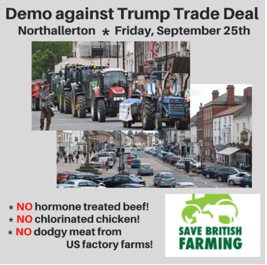 Details about the rally in Northallerton Friday 25 September in support of Save British Farming