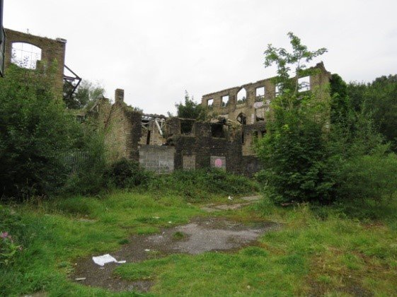 A disused, crumbling mill.