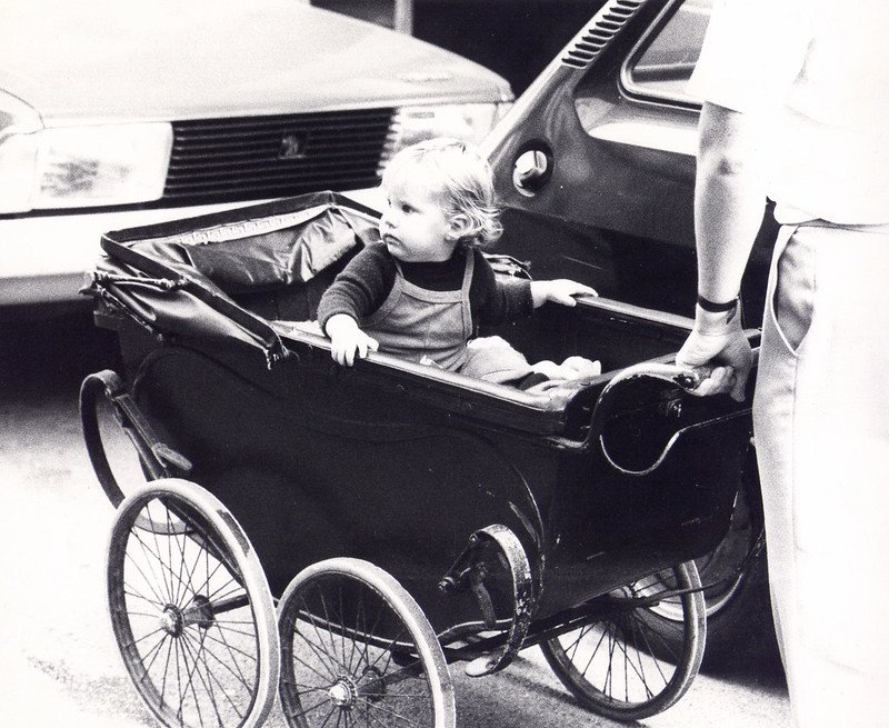 Baby in a pram picture