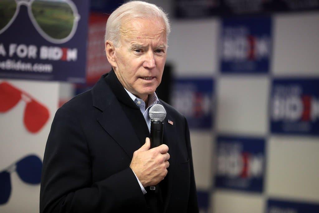 Image description: Joe Biden delivering a speech