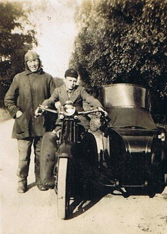 Joseph Brown with his grandson Clifford.  c. 1929.
