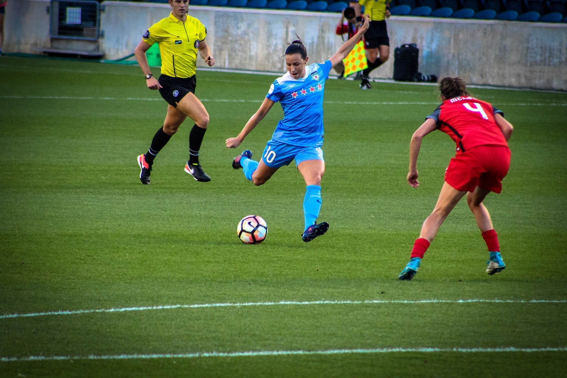 Photo of women's football match - the players are not named