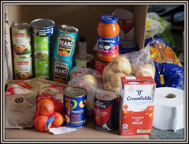 Image of a food pack for a vulnerable person
