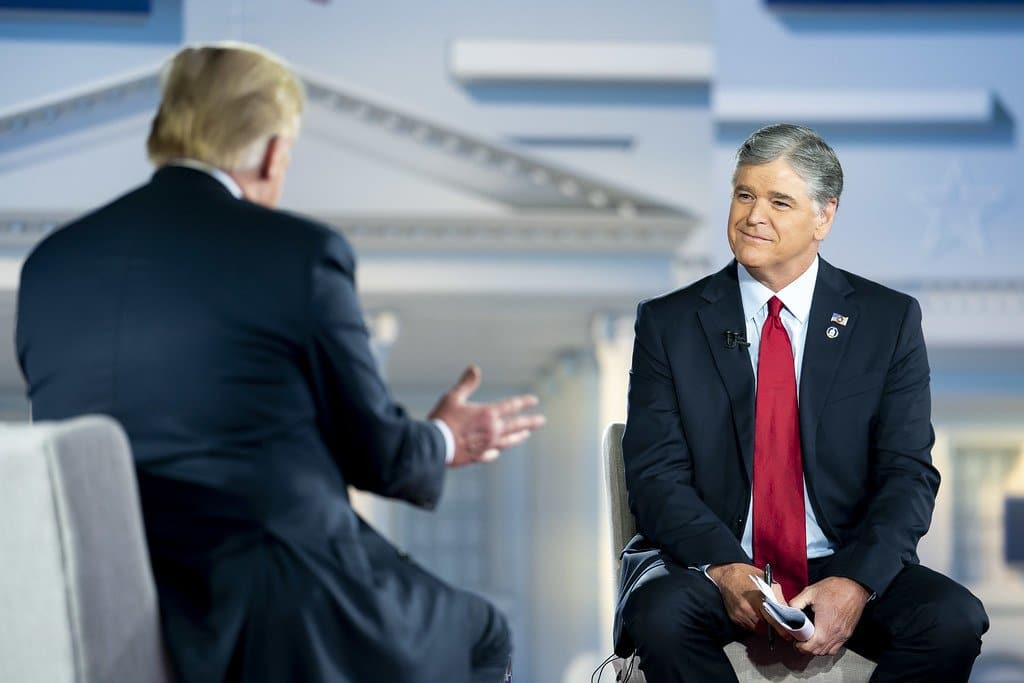 President Donald J. Trump participates in a town hall interview taping with Sean Hannity of Fox News Thursday, June 25, 2020, at Green Bay-Austin Struble International Airport in Green Bay, Wis. (Official White House Photo by Tia Dufour)