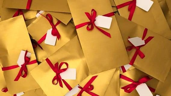 Picture of vouchers wrapped up