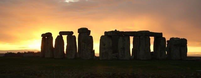Stonehenge nearing the winter solstice 2019