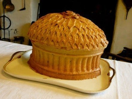 Picture of a Yorkshire Christmas Pie - a large, heavy pastry game pie