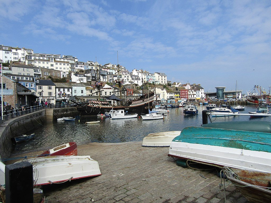 Brixham harbour from the slipway