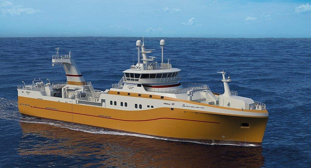 The Hull registered super trawler The Kirkella