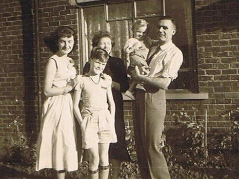 Peter Norcliffe with Christa from Heidelberg, his brother and their parents