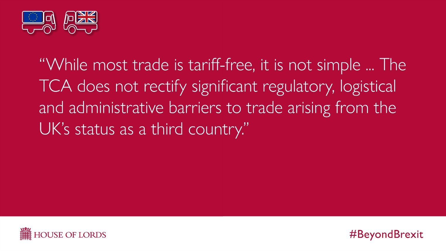 Beyond Brexit trade barriers