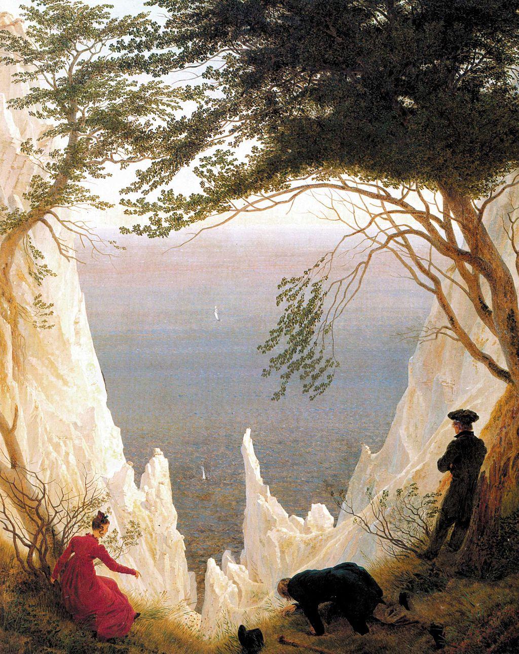 Friedrich's Chalk Cliffs on Rugen painting