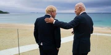 Boris Johnson with Joe Biden