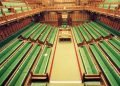 """""""House of Commons Chamber - elevated view"""" by UK Parliament is licensed under CC BY-NC-ND 2.0"""